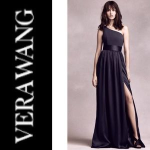 VERA WANG WHITE || bridesmaid formal dress